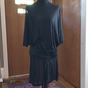 Forever 21 plus sheer t-shirt dress with belt!